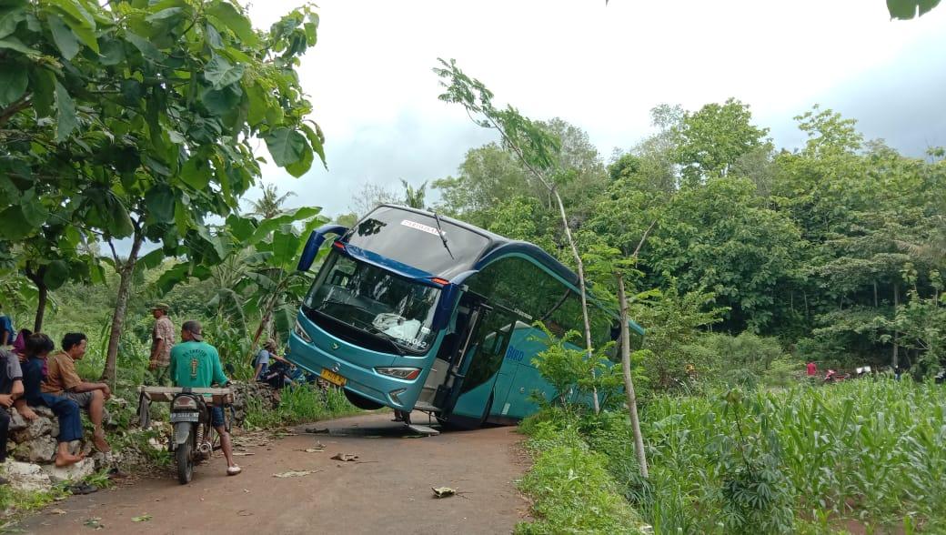 Ikuti Petunjuk Google Maps, Bus Rombongan Wisatawan Terperosok ke Ladang 157