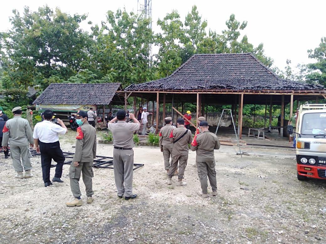 Berdiri di Tanah Pemda DIY, Warung Bakmi Ini Dibongkar Sat Pol PP 157