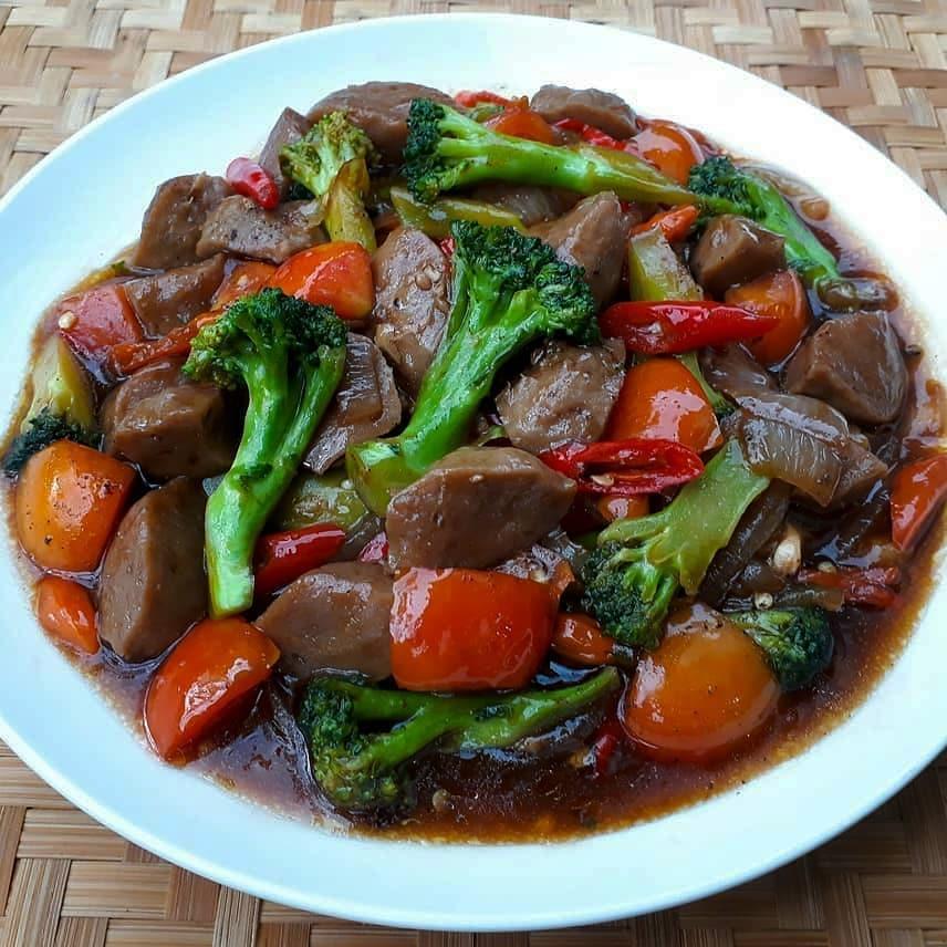 Resep Tumis Brokoli Bakso Lada Hitam 157